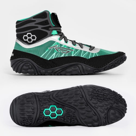 KS Infinity Teal/Chrome Adult Wrestling Shoes