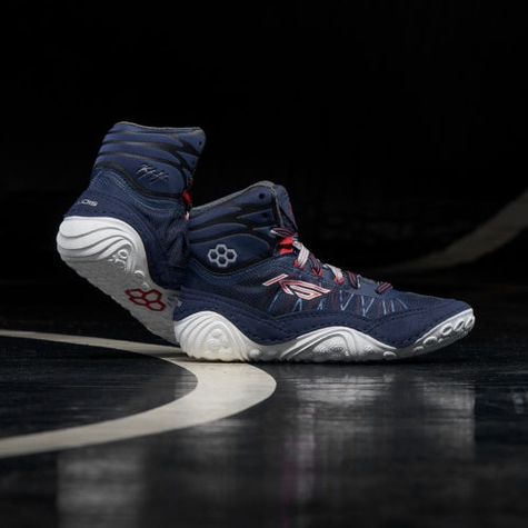KS Infinity Navy/Ghost Youth Wrestling Shoes