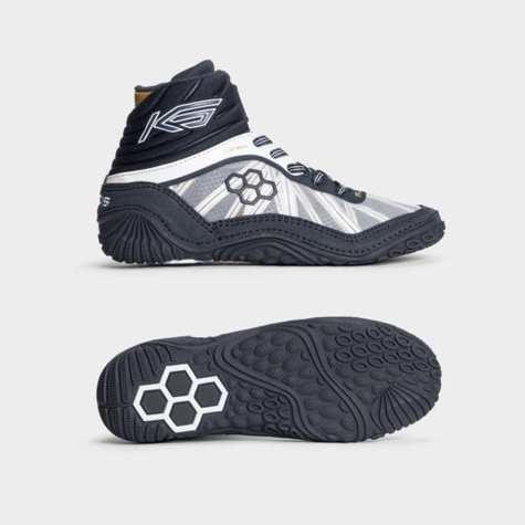KS Turbine Navy/Gold Youth Wrestling Shoes