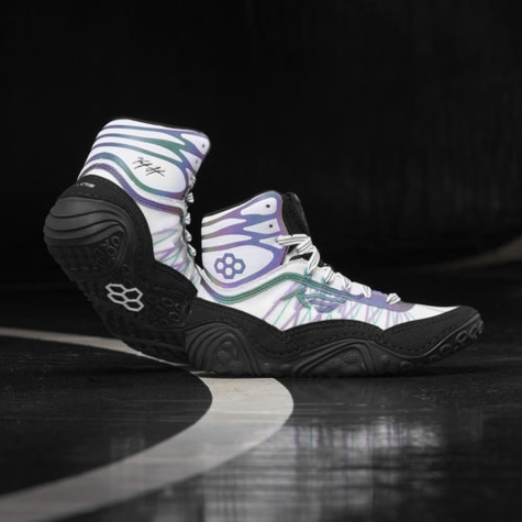 KS Infinity Prism/White Youth Wrestling Shoes